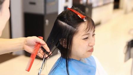"""很知性的""""齐腮短发"""",大师剪出来就是不一样,立体式瘦脸美翻了"""