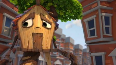 动漫:一个被抛弃的树屋,为了寻找主人,忍痛拔起自己的树根!