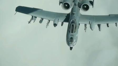美军A10攻击机加油时没有关闭发动机,完成地面准备工作再次起飞
