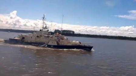 俄罗斯巡逻艇装大口径舰炮犹如水中的坦克,俄罗斯1248型巡逻艇