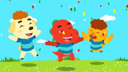 亲宝恐龙世界乐园儿歌:踢足球 冬日寒冷,小朋友们要多注意运动,才会身体健康哦