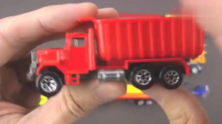 卡通益智迷你模型玩具挖掘机大卡车