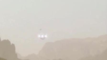 游客在沙漠上拍到UFO降落画面,连看三遍没发现破绽!