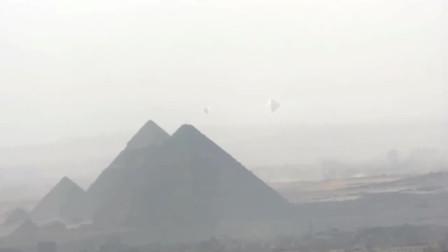 金字塔上方拍摄到3架UFO,这画面才叫珍贵!