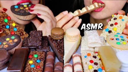 韩国吃货姐妹花,吃巧克力芝士蛋糕、冰淇淋、马卡龙,吃得真馋人