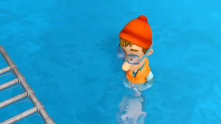 汪汪队:气泡酸瓜爆炸了,华利反应太好玩了,阿宝船长却倒霉了
