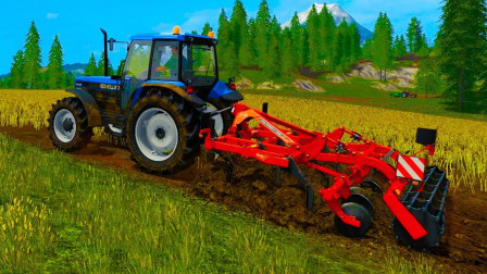 运输农用车农场作业,工程车运输沙土