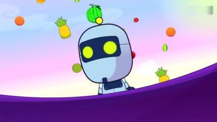 开心超人:小朋友被水果攻击了,甜心超人用保护罩保护了他们!