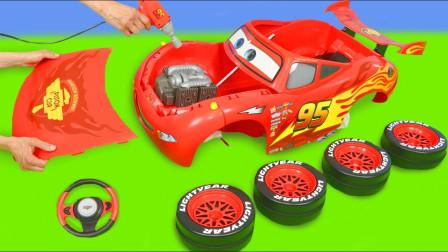 萌宝儿童卡通玩具:赛车总动员麦坤内部结构大揭秘!原来如此