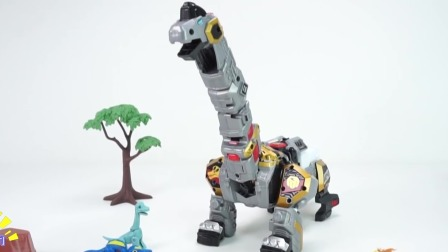 玩具腕龙变身机械恐龙大战邪恶的恐龙坏蛋.mp4