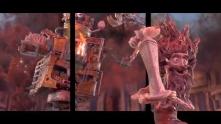 裸眼3d:《盒子怪》一群盒子怪大战高达机器人,盒子也能成精?
