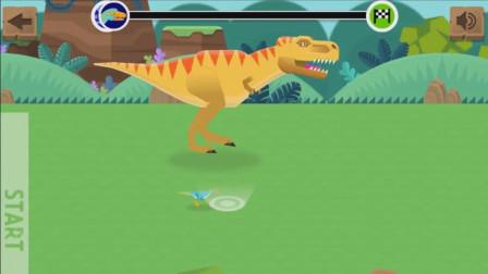 小巧玲珑的切齿龙那小短腿倒腾的够快啊!恐龙赛跑游戏
