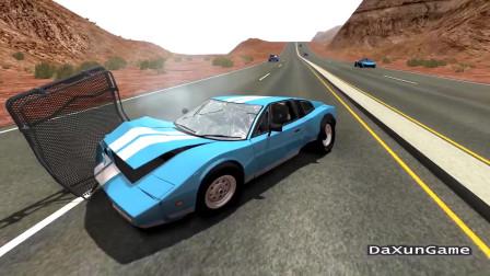 车祸模拟器:下坡路段刹车失灵,这个结果算好的了