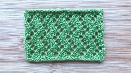 一款简单大方的S形花样,织法简单,织开衫和围巾很大方视频全集