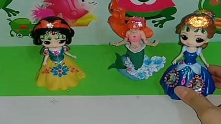 益智少儿亲子玩具:公主自画像比赛你喜欢谁的作品呢239