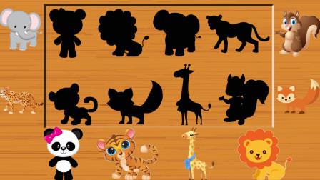 动物拼图游戏 认识多种熊猫 大象 长颈鹿等小动物