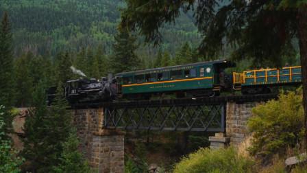 美国最危险的火车,全程与死神擦肩,7公里落差高达192米,看着就慎人!