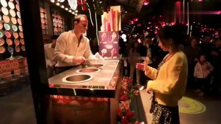 大唐不夜城的土耳其冰淇淋小哥哥会玩儿哦!小薇带你逛曲江 土耳其冰淇淋