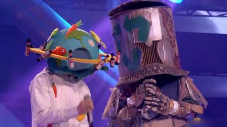 """蒙面唱将:""""我来地球打酱油""""携手""""带着面具也起范儿""""合唱还珠名曲《梦里》"""
