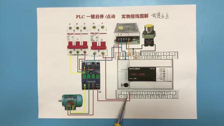电工知识:PLC如何接线,如何控制三相电机,实物对照讲解