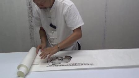 JCH 0108-J-3 于永江国画小品整挖装裱过程之三