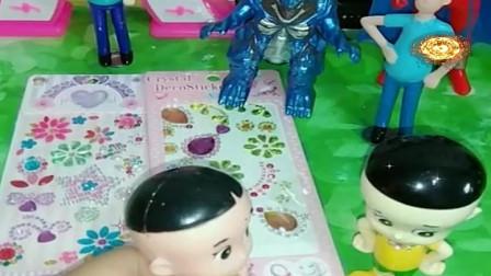 益智少儿亲子玩具:大头大脸的真假小头爸爸548