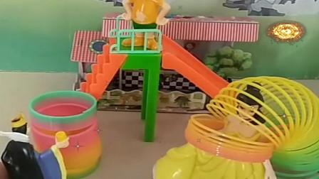 益智少儿亲子玩具:大头把贝儿和王后给抓起来了582