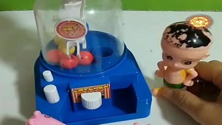 益智少儿亲子玩具:大头牌糖果机,开始抓糖果喽593