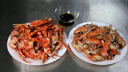 海边小媳妇吃两种海鲜,其中一种辽宁叫蝼蛄虾,你的家乡叫什么