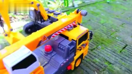 卡通模型玩具塑料卡车挖掘机