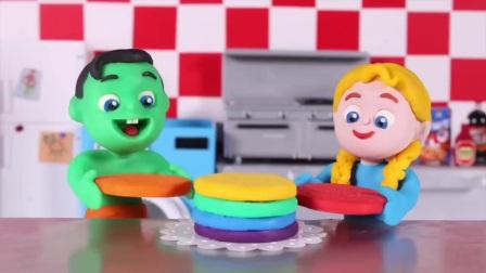 儿童定格故事:小朋友们一起制作千层蛋糕