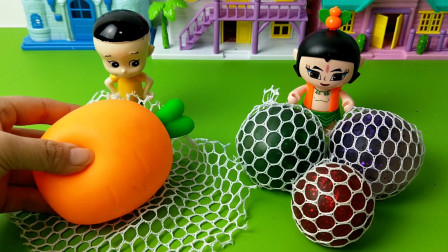 童话小剧场:大头儿子给自己做了一个胡萝卜发泄球