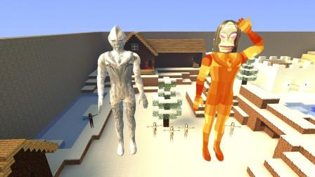 GMOD游戏达达星人穿上岩浆奥特曼的衣服就不冷了吗?