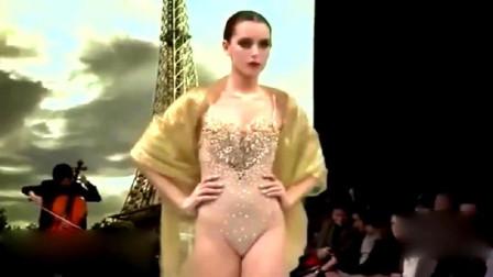 性感模特走秀现场,华丽的着装,身材火辣!