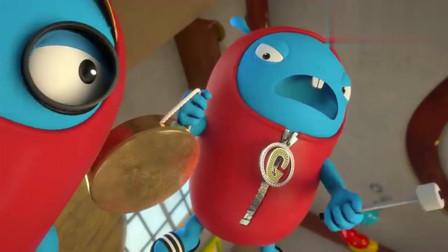 杰力豆:GOGO又有鬼点子了,它藏在大箱子里,想要吓唬JOJO