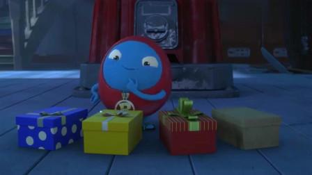 杰力豆:圣诞老人送礼物来啦!可给RORO开心坏了,他要选最重那个