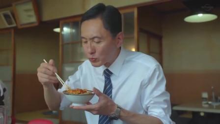 孤独的美食家:鲜嫩猪肉片,配上泡菜和酱汁,叔扒饭的速度真快