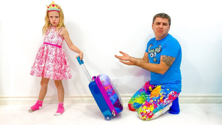 什么情况?萌宝小萝莉拉着行李箱要去哪?趣味玩具故事
