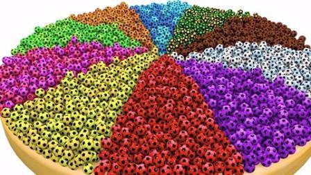 制作彩色的足球披萨玩具学习认识颜色英语早教益智动物
