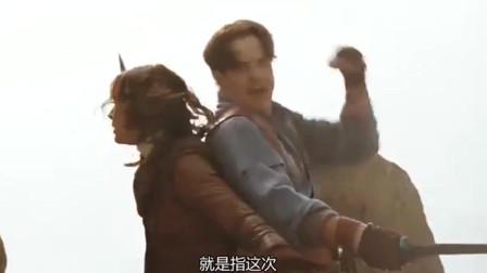 木乃伊3:夫妻大战兵马俑军团,同伴驾驶战斗机赶来,疯狂扫射