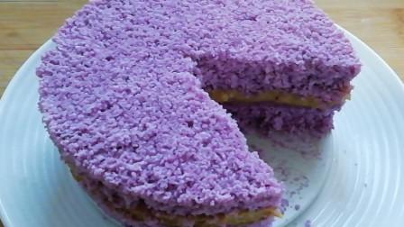 板栗紫薯蒸蛋糕,不用面粉,不用鸡蛋,松软香糯,比普通蛋糕都香