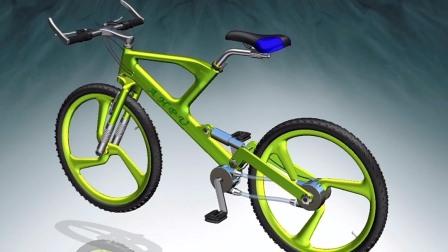 """小伙发明""""无级变速""""自行车,牙盘大小可变化,模拟六档变速"""