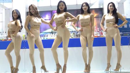 五位韩国美女酒店服装秀