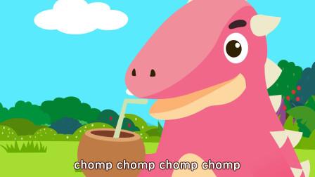 亲宝恐龙世界乐园儿歌:快乐小恐龙 小恐龙们为什么这么开心呀!快看,他们在跳舞呢!
