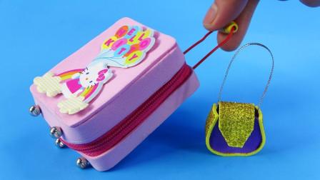 手工制作精致旅游用品:凯蒂猫旅行箱和手提袋真可爱呀!