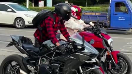 这小伙是个人才!30万的摩托车,让他骑出了300块的样子!