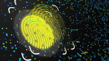AE模板-科技感数字指纹演绎标志Logo开场动画25053488