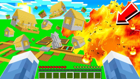 我的世界被掩埋的世界罗修-竹思亓:天空掉落的方块组成的世界!