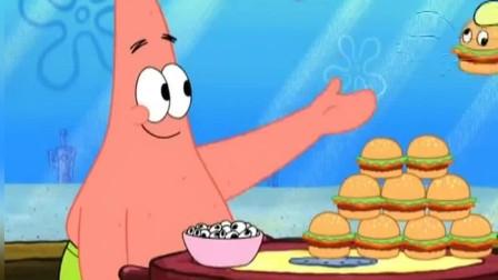 派大星把汉堡包做成了艺术品,蟹堡王的生意越来越好了