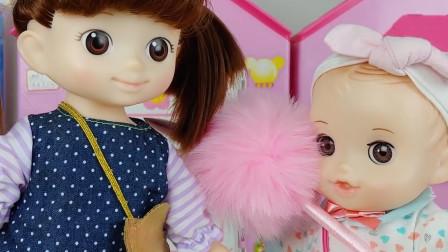 洋娃娃的神奇魔法棒玩具,她给凯特姐姐变出了一个宠物店
